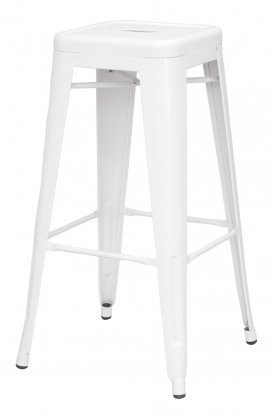 Metropolis White Metal Counter Stool by New Pacific Direct
