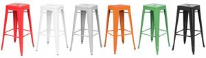 Metropolis Backless Metal Bar Stool by New Pacific Direct