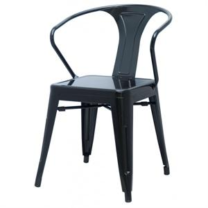 Metropolis Metal Arm Chair Black Color Item 938731-B