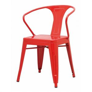 Metropolis Metal Arm Chair Red Color Item 938731-R