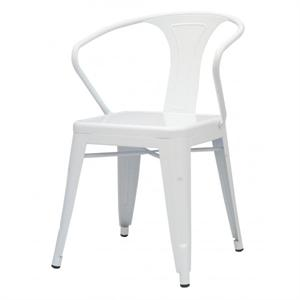Metropolis Metal Arm Chair White Color Item 938731-W