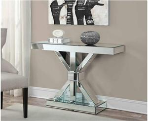 Verona Mirrored Console Table,950191,950191 coaster