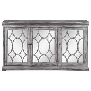 Accent Cabinet with Lettice Design on Mirror Doors 950777 Coaster