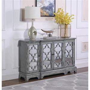 Accent Cabinet with Lettice Design on Mirror Doors 950822 By Coaster
