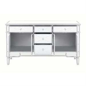 Mirror Accent Cabinet 950829 by Coaster Furniture Open Door View