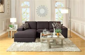 Black Sectional Kamea Collection,9677 homelegance