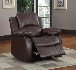 Cranley Brown Living Room Collection item #9700BRW Recliner Chair