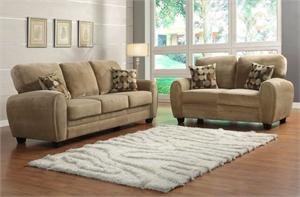 Rubin Light Brown Living Room Collection by Homelegance
