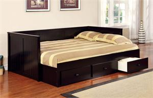 Wolford Black Full Size Day Bed,CM1927BK furniture of america,cm1927 day bed