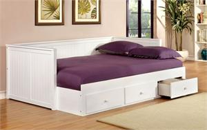 Wolford White Full Size Day Bed,cm1927wh furniture of america,cm1927 day bed