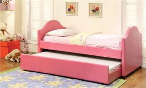 Cresson Pink Twin Day Bed with Trundle,cm1959pk furniture of america,pink day bed
