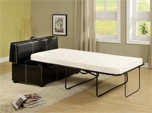 Open Bed - Ottoman in Black with Pull Out Bed Item #CM4703 by Import Direct