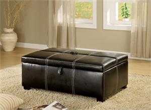 Ottoman in Black with Pull Out Bed Item #CM4703 by Import Direct