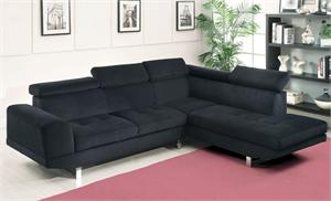 Holt Black Bella Fabric Sectional CM6824,cm6824 import direct,black bella fabric sectional
