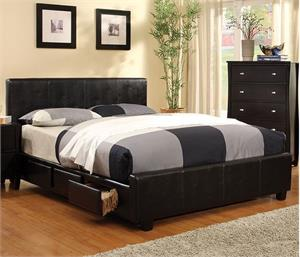 Burlington Storage Bed,cm7009 furniture of america,cm7009 bed