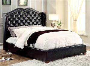 Monroe Black Platform Bed CM7016,CM7016BK,CM7016 furniture of america