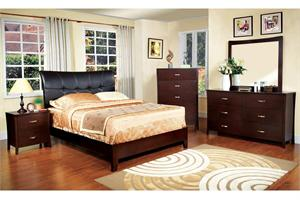 Midland Padded Headboard Bedroom Set Item CM7610