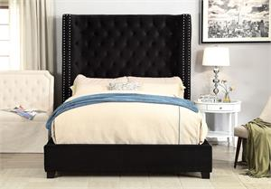 Mirabelle Black Bed CM7679,cm7679bk, cm7679 bed,cm7679 furniture of america