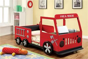 Fire Truck Twin Bed CM7767,CM7767 ,CM7767 furniture of america