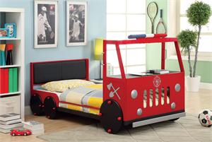 Fire Engine Twin Bed CM7770,cm7770 import direct,cm7770 furniture of america,cm7770 bed