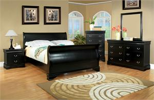 Black Laurelle Collection Bedroom Set Item CM7815BK