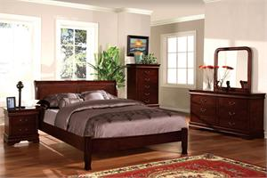 Cherry Saint Anne Collection Bedroom Set Item CM7825LCH