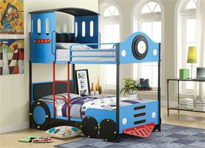 Twin/Twin Express Train Bunk Bed,cm-bk1042,cm1042,cm-bk1042 furniture of america