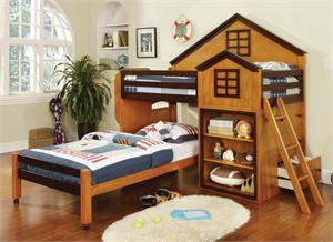 Citadel Twin/Twin Loft Bed House Design ,CM-BK131AW import direct