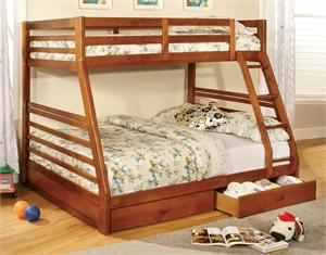 California III Twin/Full Bunk Bed with 2 Drawers CM-BK588A,cm-bk588a bunk bed,cm-bk588a import direct