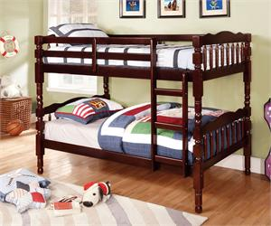 Twin/Twin Bunk Bed with 2 Twin Mattress Package,CM-BK606EX bunk bed,CM-BK606A bunk bed,CM-BK606CH bunk bed,furniture of america bunk bed