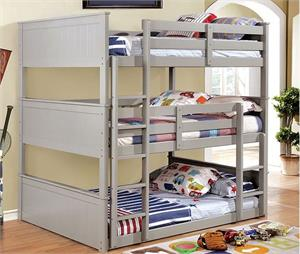 Therese Triple Bunk Bed,cm-bk628 furniture of america