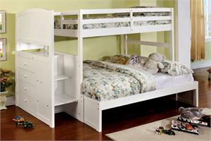 Bunk Bed Appenzell Collection Twin Over Full by Import Direct Item CM-BK922F