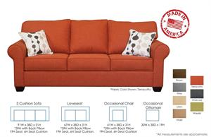 Emily Custom Sofa Set by Christopher Robbins
