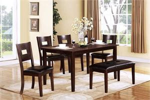 Espresso Dinette Set Style F2119+F1115+F1116 by Poundex