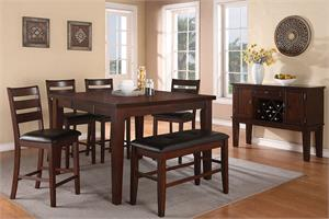 Counter Height Dining Set Poundex F2208,f2208 poundex
