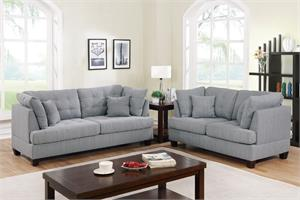 Sofa and Loveseat Set Poundex F6401