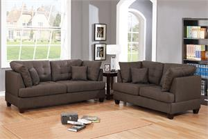 Sofa and Loveseat Set Poundex F6402