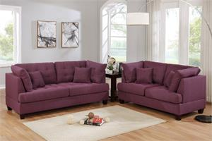Sofa and Loveseat Set Poundex F6403,f6403 poundex