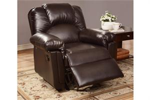 Espresso Recliner Chair Style F6676