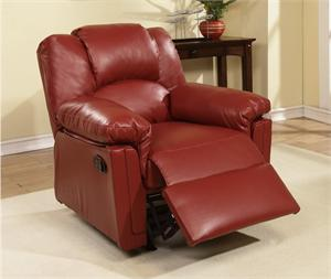 Burgundy Recliner Chair Style F6679