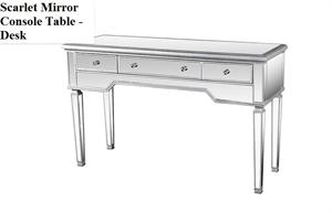 Scarlet Mirror Console Table - Desk,FRA2011 best master furniture,mirrored desk,mirrored console table