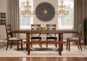 Clayton Dining Collection atble, chaisr and bench,2515-96 Homelegance