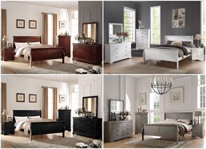 Louis Philipe Bedroom Set Collage