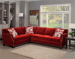 Opera Benchley Ruby Sectional,benchley furniture,red sectional