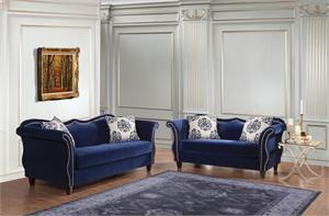 SM2231 Zaffiro Sofa Set,blue sofa,sm2231 furniture of america