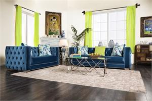 Salvatore Lapis Blue Sofa Set Collection SM2280,sm2280 furniture of america