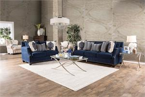 Cornelia Navy Sofa Set SM3071,sm3071 furniture of america