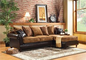 SM6101 Gaspard Sectional,sm6101 furniture of america,traditional sectional