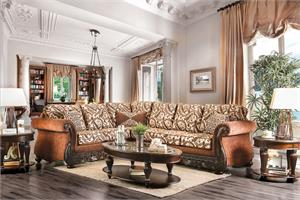 Cassandra Traditional Sectional ,sm6408 furniture of america, sm6408 sectional