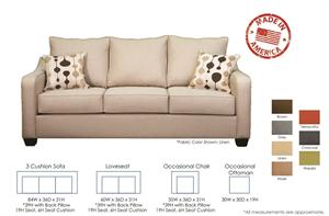 Stacy Custom Sofa Set by Christopher Robbins